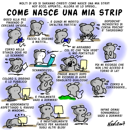 Come nasce una mia strip